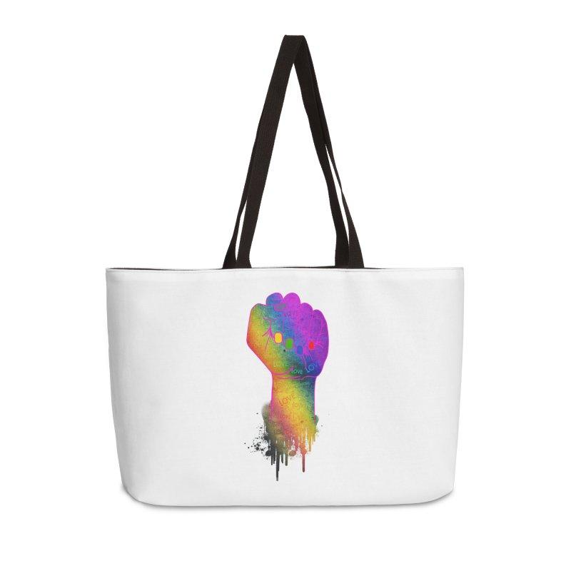Queer Love Fist Accessories Weekender Bag Bag by Good Trouble Makers
