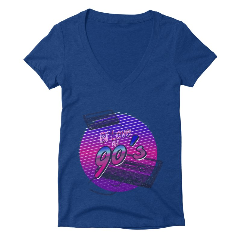 Bi Love The 90's Women's Deep V-Neck V-Neck by Good Trouble Makers