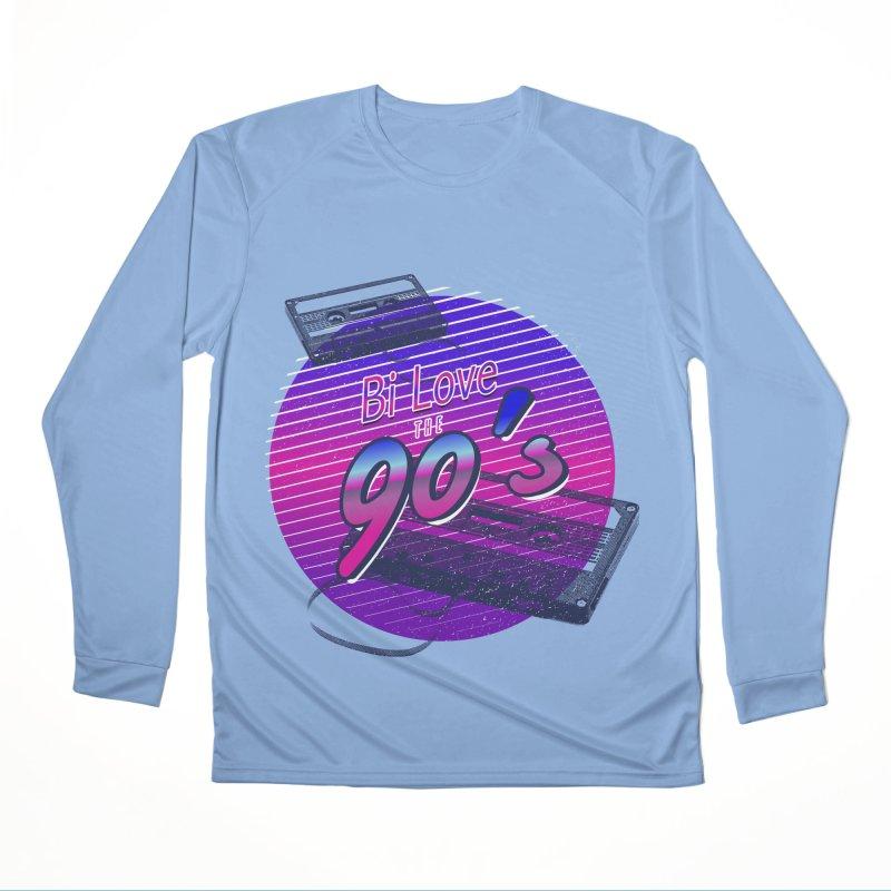 Bi Love The 90's Women's Performance Unisex Longsleeve T-Shirt by Good Trouble Makers