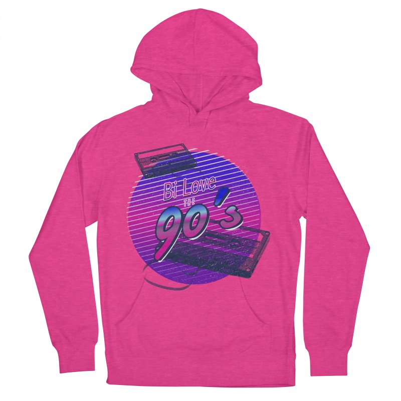 Bi Love The 90's Men's French Terry Pullover Hoody by Good Trouble Makers