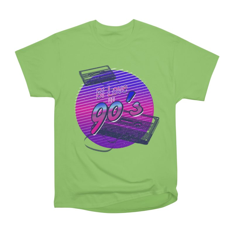 Bi Love The 90's Men's Heavyweight T-Shirt by Good Trouble Makers