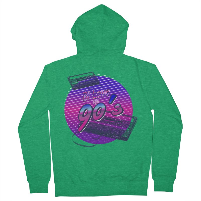 Bi Love The 90's Women's French Terry Zip-Up Hoody by Good Trouble Makers