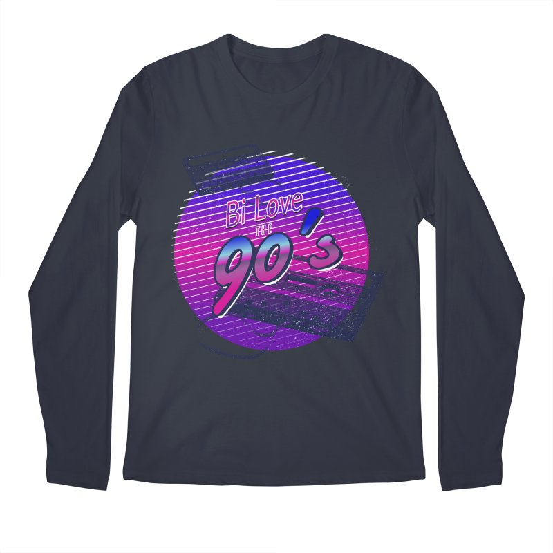 Bi Love The 90's Men's Regular Longsleeve T-Shirt by Good Trouble Makers