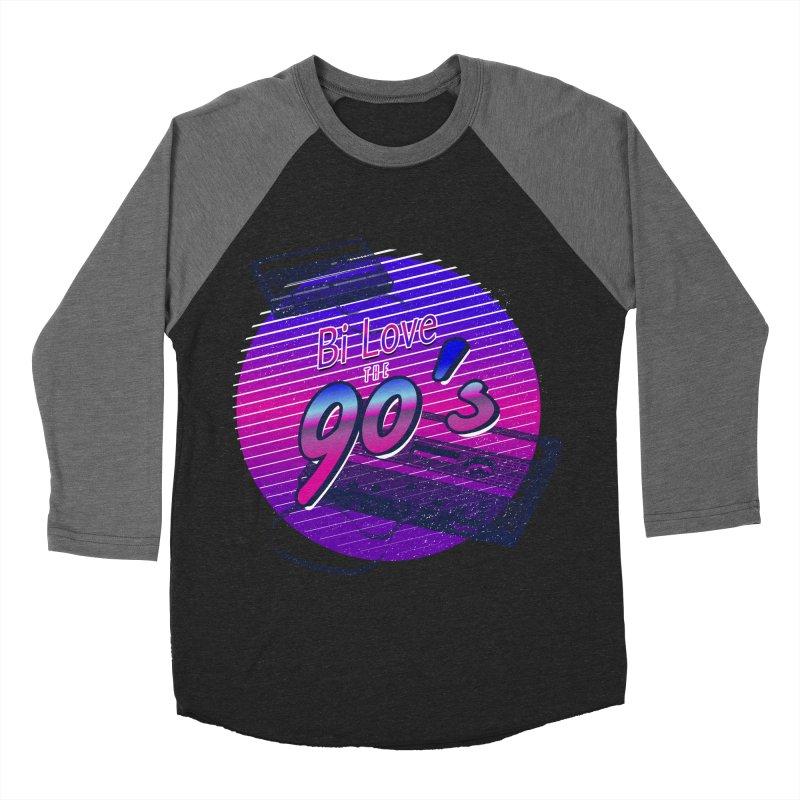 Bi Love The 90's Women's Baseball Triblend Longsleeve T-Shirt by Good Trouble Makers