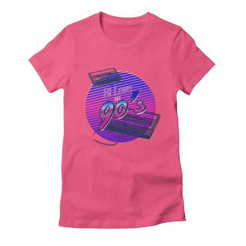 Bi Love The 90's Women's Fitted T-Shirt by Good Trouble Makers