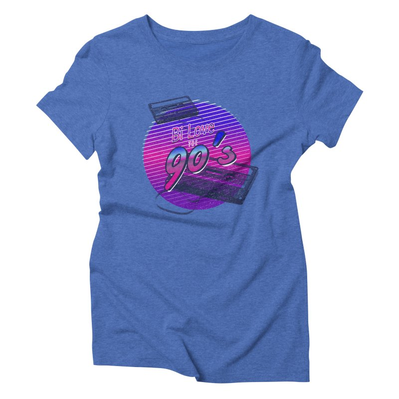 Bi Love The 90's Women's Triblend T-Shirt by Good Trouble Makers