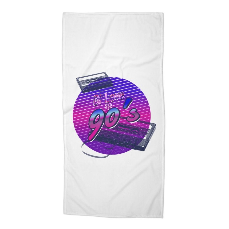Bi Love The 90's Accessories Beach Towel by Good Trouble Makers