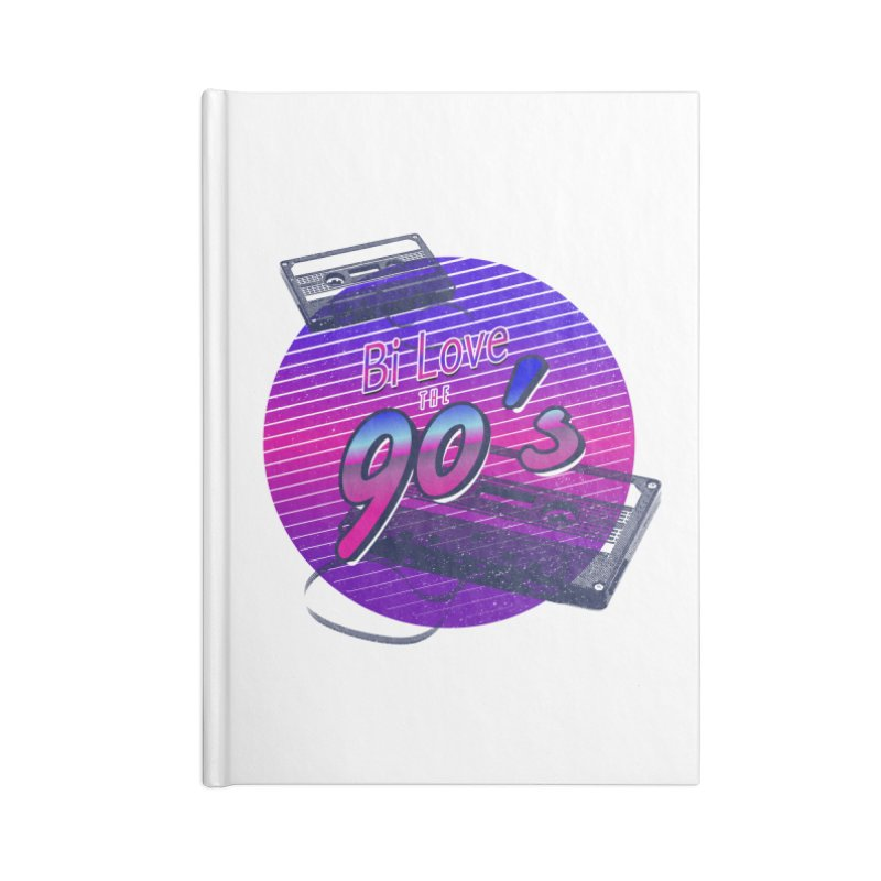 Bi Love The 90's Accessories Lined Journal Notebook by Good Trouble Makers