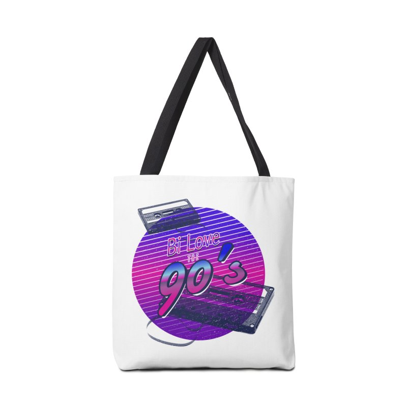 Bi Love The 90's Accessories Tote Bag Bag by Good Trouble Makers