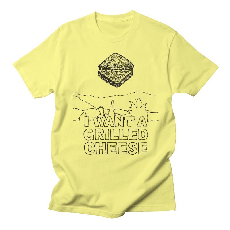 Mulder's Muenster Munchies in Men's T-shirt Lemon by Bud Made