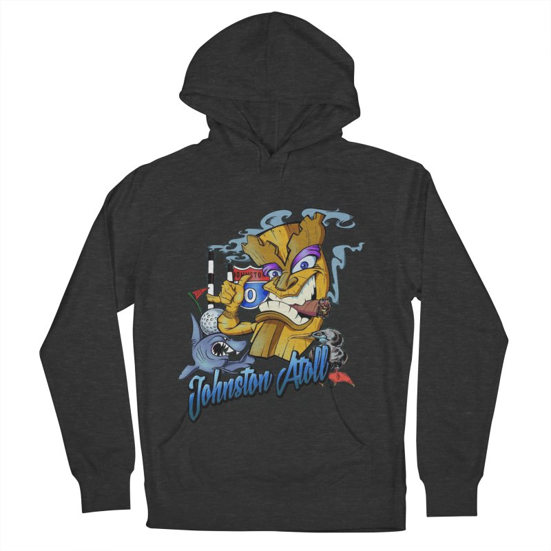 Johnston Island Men's French Terry Pullover Hoody by goofyink's Artist Shop