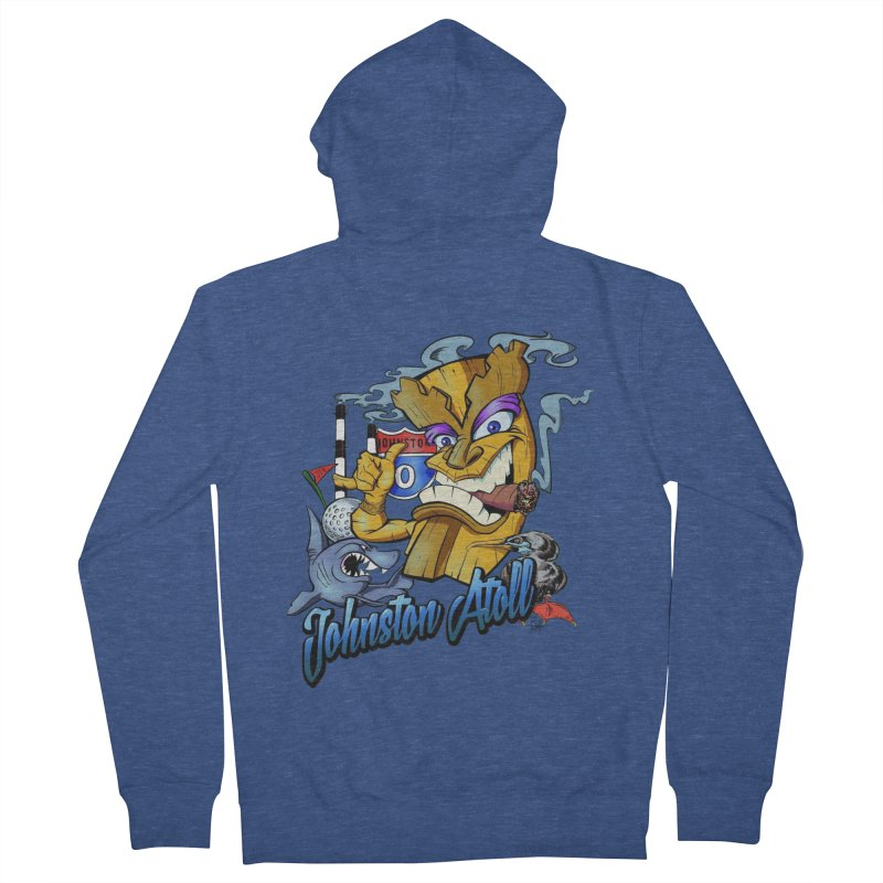Johnston Island Men's French Terry Zip-Up Hoody by goofyink's Artist Shop