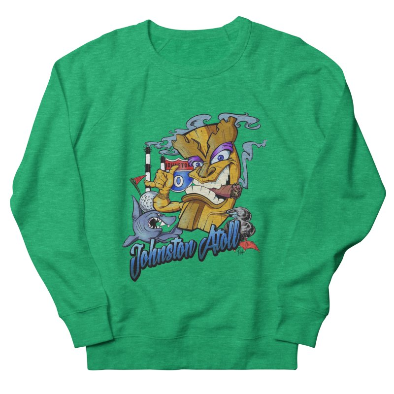 Johnston Island Men's French Terry Sweatshirt by goofyink's Artist Shop