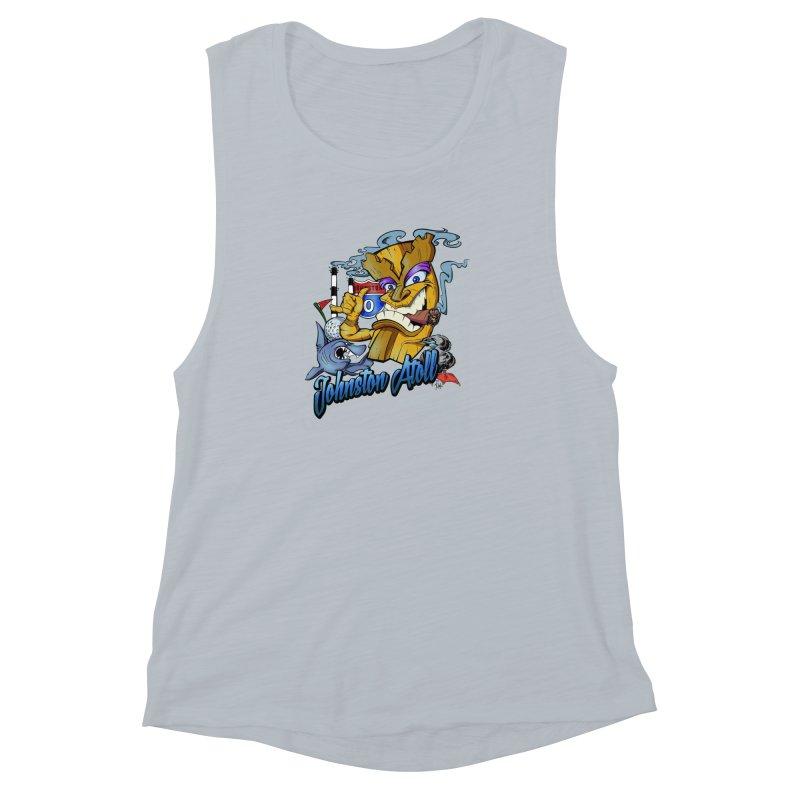 Johnston Island Women's Muscle Tank by goofyink's Artist Shop