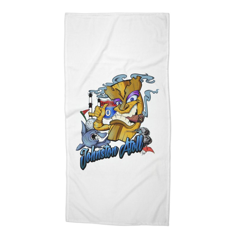 Johnston Island Accessories Beach Towel by goofyink's Artist Shop