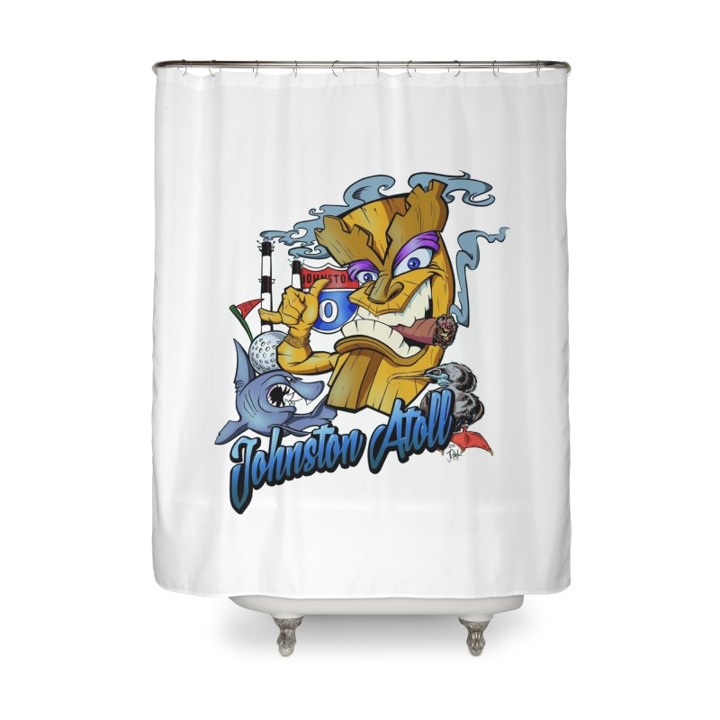 Johnston Island Home Shower Curtain by goofyink's Artist Shop