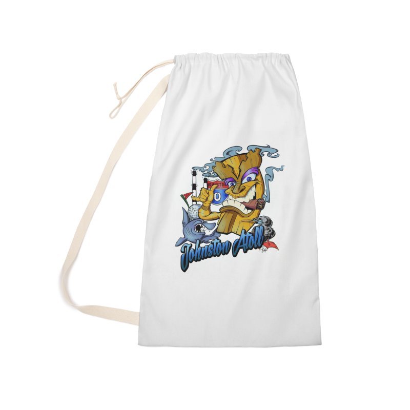 Johnston Island Accessories Laundry Bag Bag by goofyink's Artist Shop