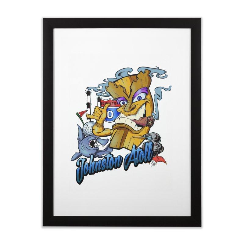 Johnston Island Home Framed Fine Art Print by goofyink's Artist Shop