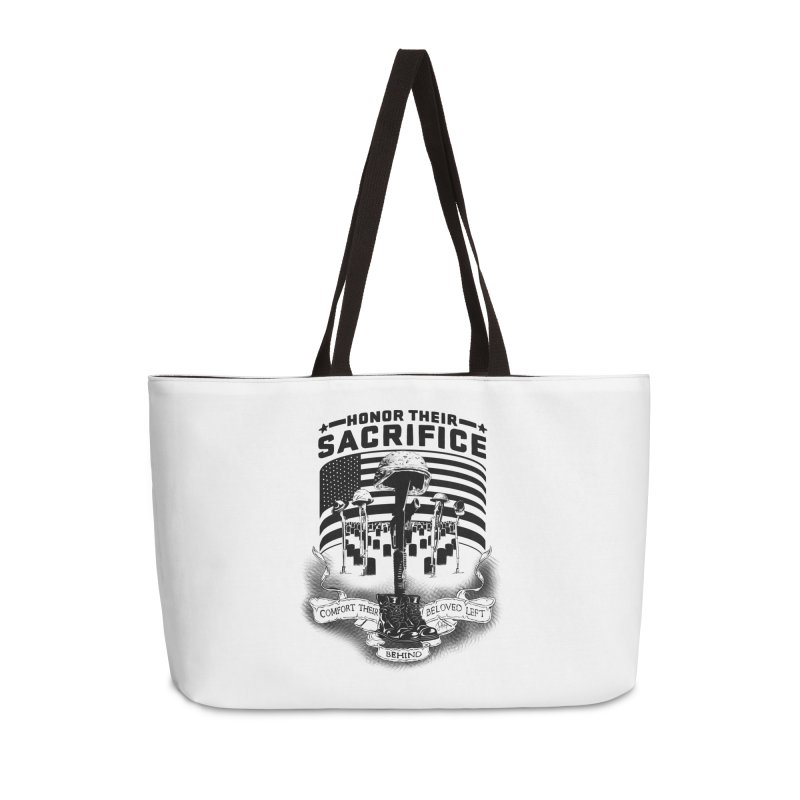Sacrifice Accessories Weekender Bag Bag by goofyink's Artist Shop