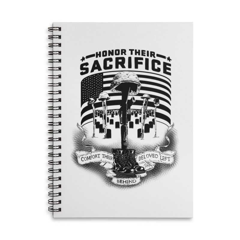 Sacrifice Accessories Lined Spiral Notebook by goofyink's Artist Shop