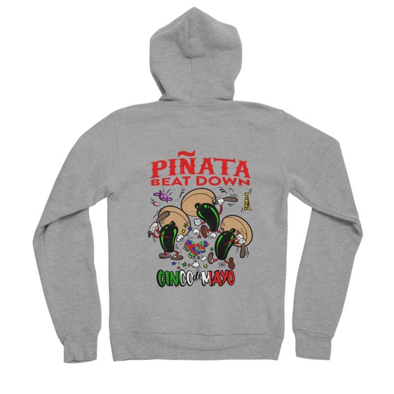 Pinata Beat Down Men's Sponge Fleece Zip-Up Hoody by goofyink's Artist Shop