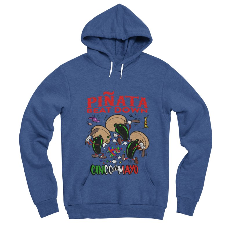 Pinata Beat Down Men's Sponge Fleece Pullover Hoody by goofyink's Artist Shop