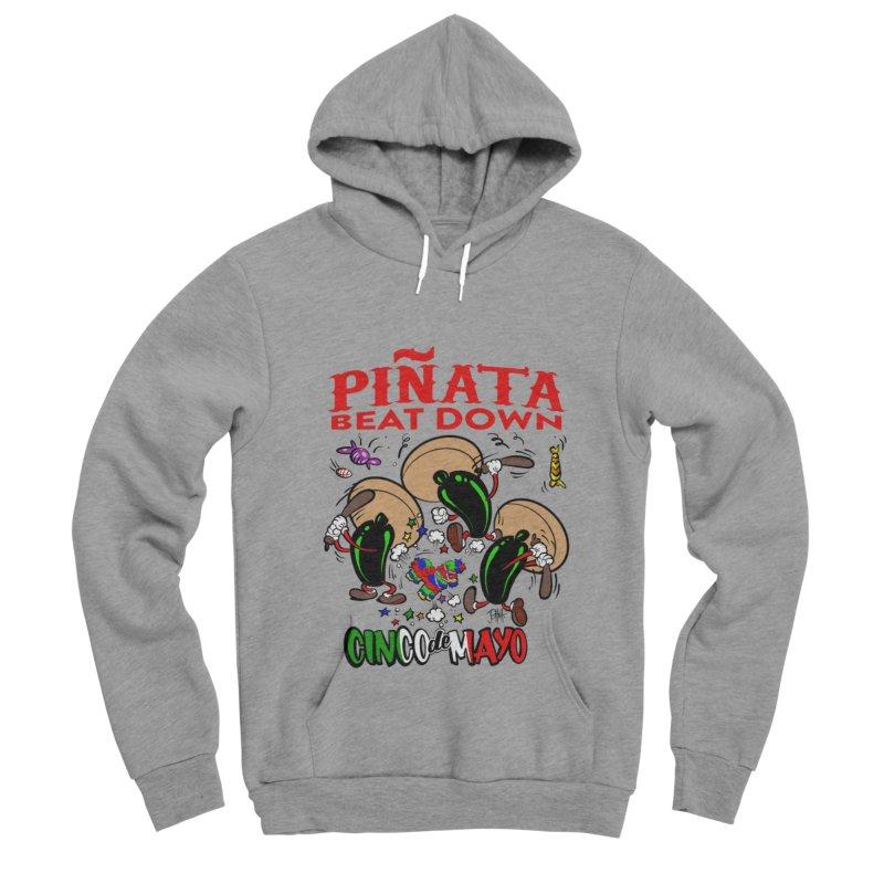 Pinata Beat Down Men's Sponge Fleece Pullover Hoody by goofyink's Artist Shop