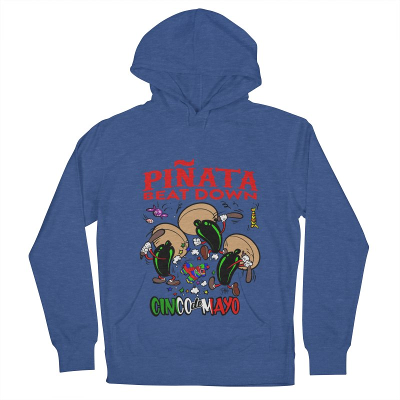 Pinata Beat Down Men's French Terry Pullover Hoody by goofyink's Artist Shop