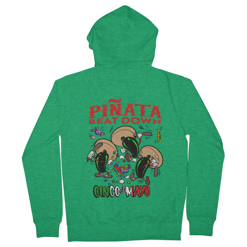 Pinata Beat Down Men's Zip-Up Hoody by goofyink's Artist Shop