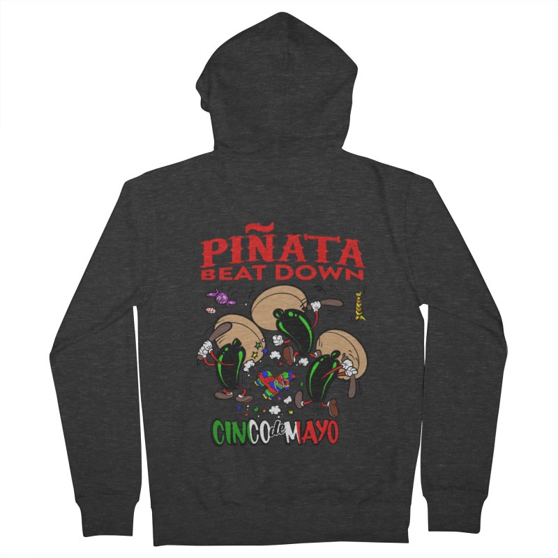 Pinata Beat Down Men's French Terry Zip-Up Hoody by goofyink's Artist Shop