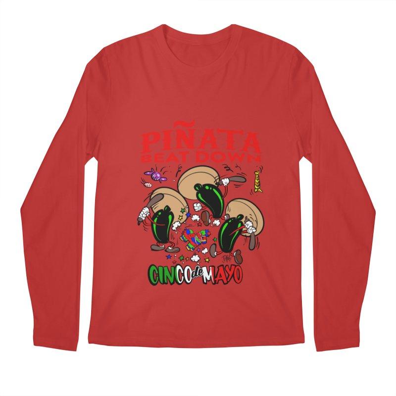 Pinata Beat Down Men's Regular Longsleeve T-Shirt by goofyink's Artist Shop