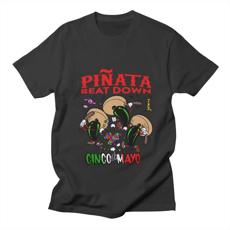 Pinata Beat Down Men's T-Shirt by goofyink's Artist Shop