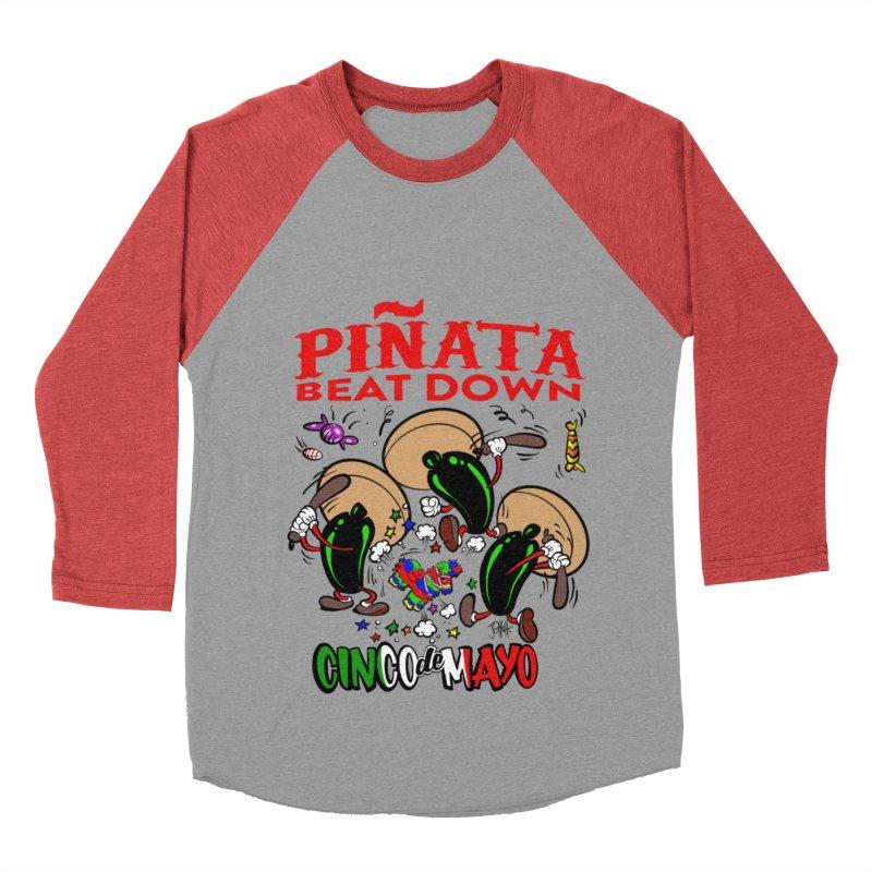Pinata Beat Down Men's Baseball Triblend Longsleeve T-Shirt by goofyink's Artist Shop