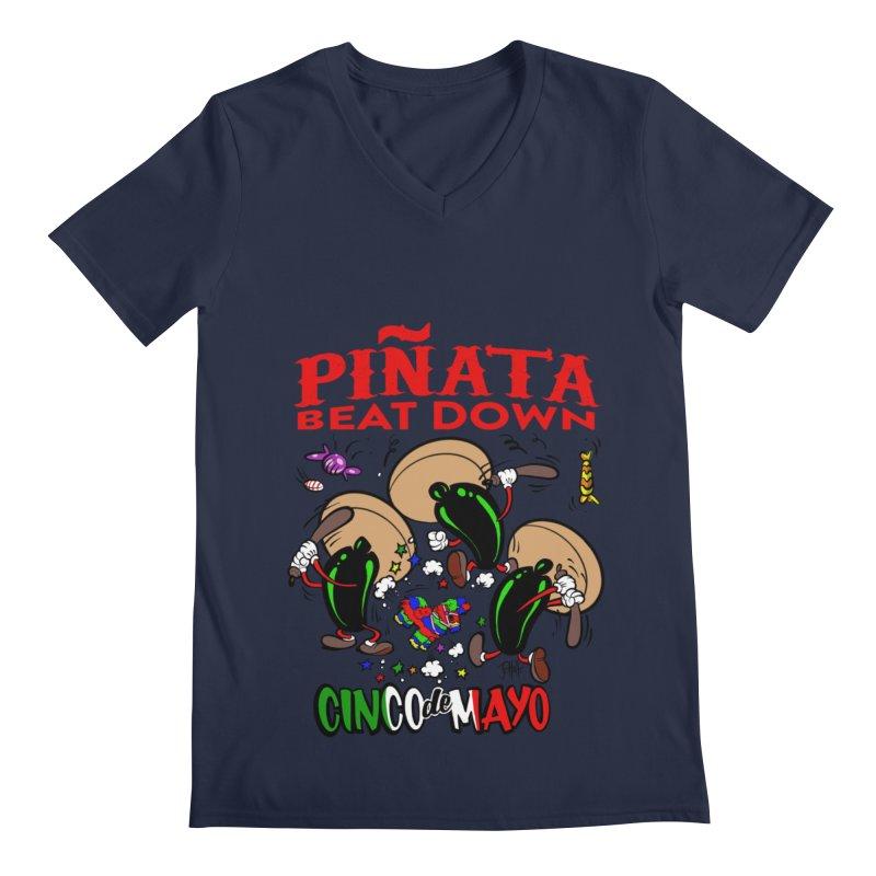 Pinata Beat Down Men's V-Neck by goofyink's Artist Shop