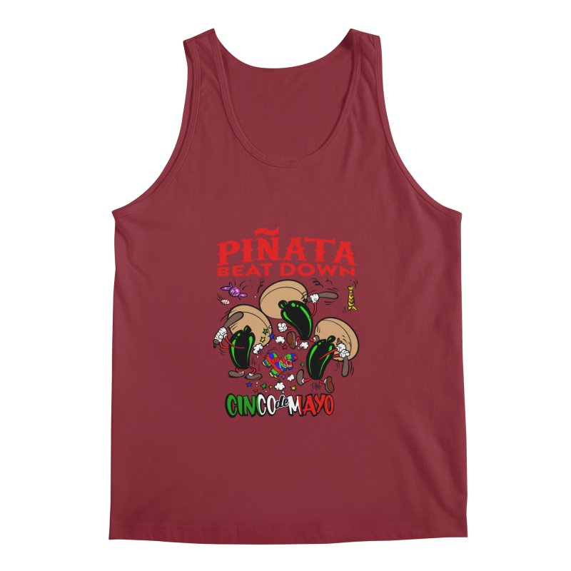 Pinata Beat Down Men's Regular Tank by goofyink's Artist Shop