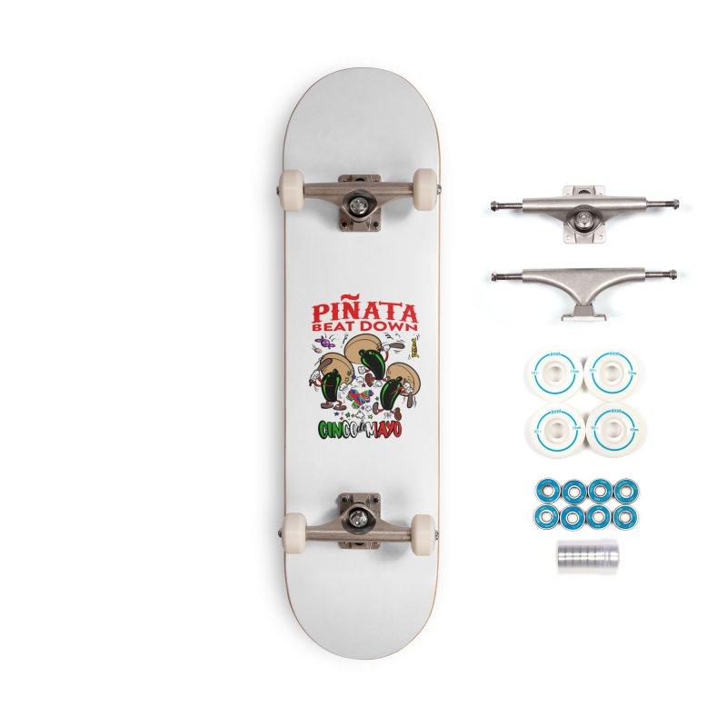 Pinata Beat Down Accessories Skateboard by goofyink's Artist Shop