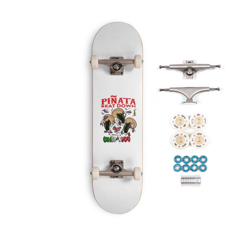 Pinata Beat Down Accessories Complete - Premium Skateboard by goofyink's Artist Shop