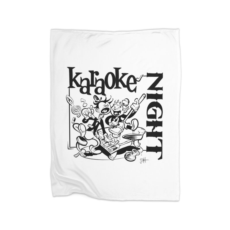 karaoke night Home Blanket by goofyink's Artist Shop