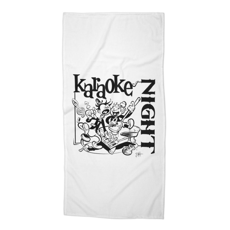 karaoke night Accessories Beach Towel by goofyink's Artist Shop