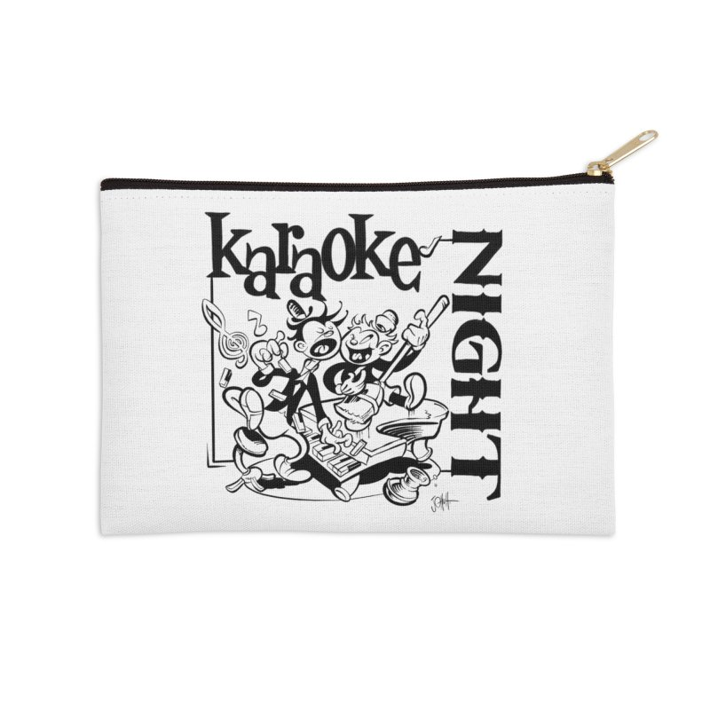 karaoke night Accessories Zip Pouch by goofyink's Artist Shop