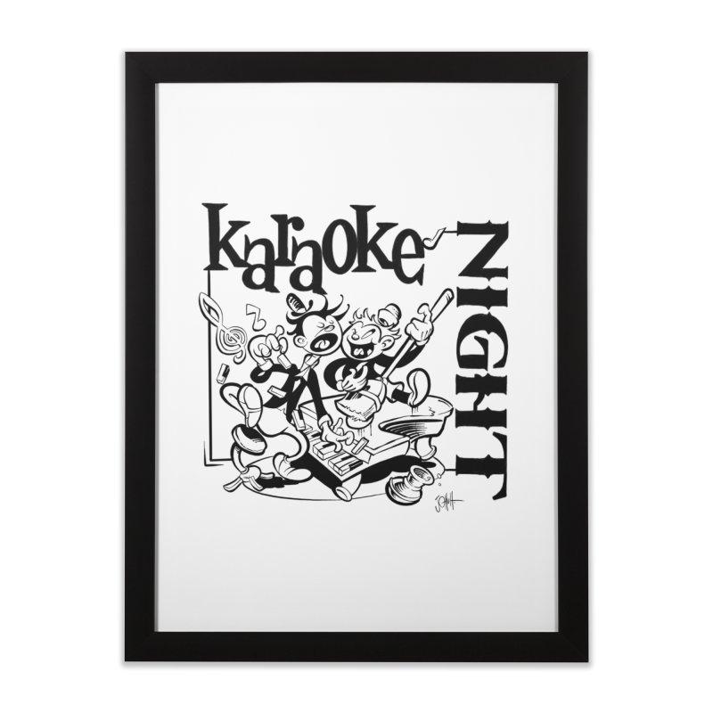 karaoke night Home Framed Fine Art Print by goofyink's Artist Shop