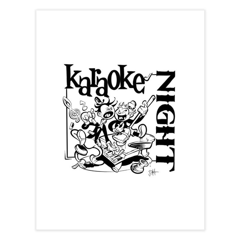 karaoke night Home Fine Art Print by goofyink's Artist Shop