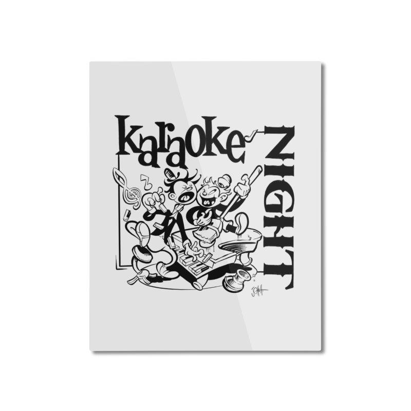 karaoke night Home Mounted Aluminum Print by goofyink's Artist Shop