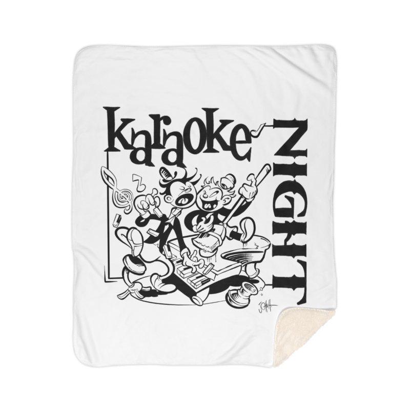 karaoke night Home Sherpa Blanket Blanket by goofyink's Artist Shop