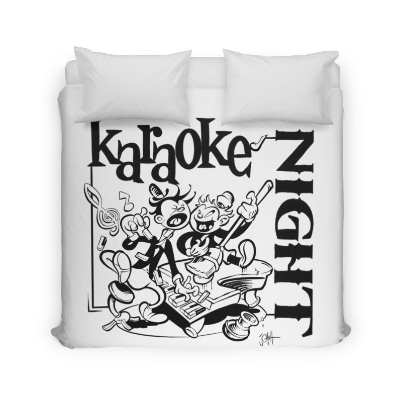 karaoke night Home Duvet by goofyink's Artist Shop