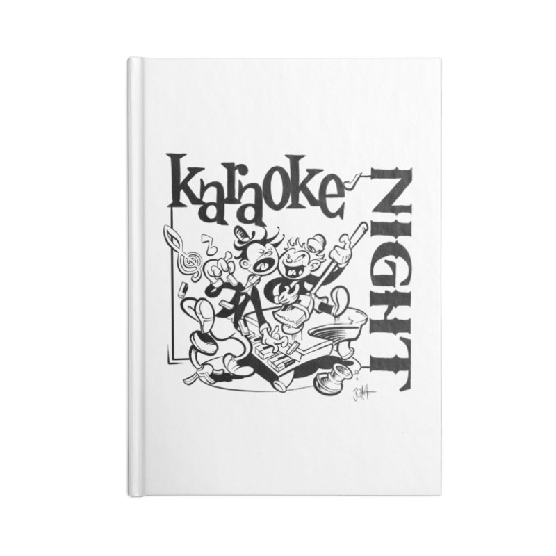 karaoke night Accessories Blank Journal Notebook by goofyink's Artist Shop