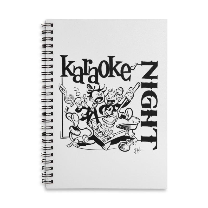 karaoke night Accessories Notebook by goofyink's Artist Shop