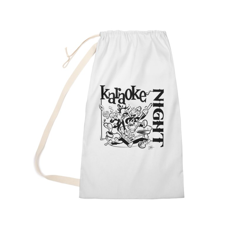 karaoke night Accessories Laundry Bag Bag by goofyink's Artist Shop