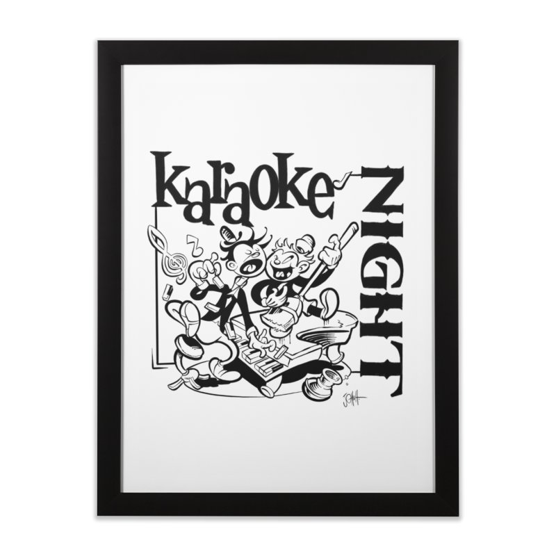 karaoke night Home Framed Fine Art Print by goofyink's Artist Shop