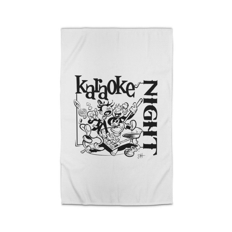 karaoke night Home Rug by goofyink's Artist Shop